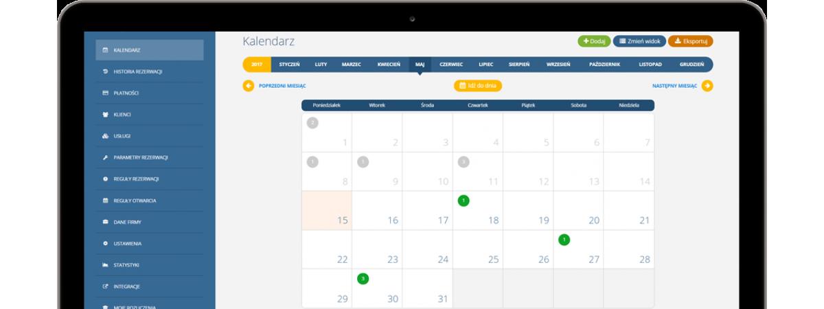 Nowy widok kalendarza rezerwacji